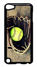Softball Glove Black or White Case Cover for iPod 4 5 5th Touch Generation