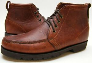 MENS ORVIS CHUKKA LACE UP BROWN LEATHER ANKLE HUNTING BOOTS SHOES SZ 10 D 10D
