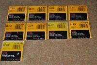 9pcs Kodak Wratten No.CC 20G, 20C, 20B, 20R, Gelatin Filter 75x75mm 3 inch