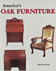 Antique American Oak Furniture Tables Chairs Desks Dressers Etc.  / Book + Value