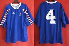 Maillot Equipe de France Vintage porte #4 Vintage Espoir Bleu - XL