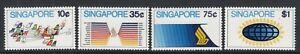 SINGAPORE 1973 AVIATION SET - SG 197-200 -  MOUNTED MINT