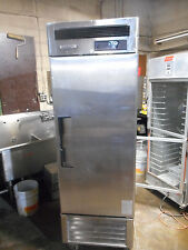 1-DR. COMMERCIAL COOLER, TURBO AIR, STAINLESS STEEL, 115V, ON CASTERS, CLEAN!