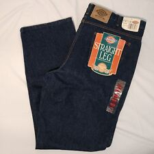 Dickies Men's Blue Regular Fit Straight Leg Denim Blue Jean 42x34