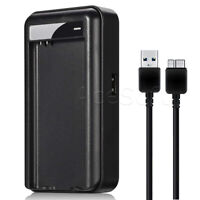 External Battery Travel Charger US Plug w/ 3.0 Cable For Samsung Galaxy S5 I9600