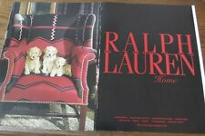 Ralph Lauren Home Magazine Print Ad 4 page Original Vintage
