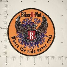Biker or Not Patch