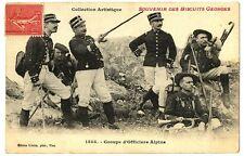 CPA Chasseurs-Alpins Groupe d'Officiers Alpins carte publicitaire