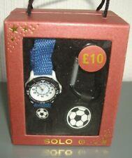 SOLO ~ BOYS FOOTBALL/ SOCCER WATCH AND FOOTBALL BAG CLIP SET