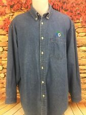 HGTV Production Crew Butterfield Stage Denim Chambray Button Down Shirt Large