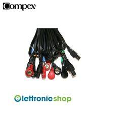 COMPEX SET 4 CAVI A SNAP COLORI: ROSSO/GIALLO/BLU/VERDE COD.001119