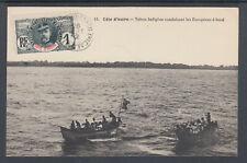 Ivory Coast Sc 21 on 1912 PPC, Grand Tahou - Chancay, Natives driving boats