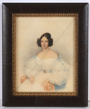 """Johann Nepomuk Ender (1793-1854) """"Portrait of a young lady"""", watercolor, 1834"""