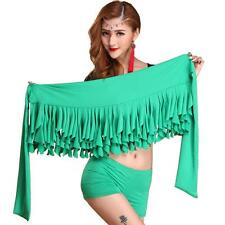 Green New 2016 Belly Dance Costumes Hip Scarf Wrap Belt Skirt Tassels