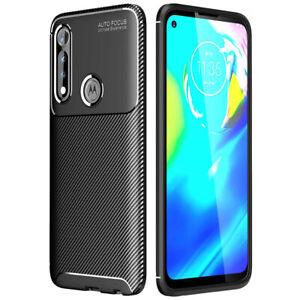 For Motorola Moto G Power 2021 Case Slim Carbon Fiber Shockproof TPU Cover
