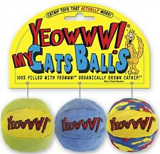 Yeowwww! My Cats Balls- All balls are 100% filled with yeoww! Organicaly catnip