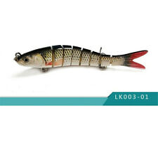 Fishing Lures 8-Segments Fish Bass Minnow Swimbait Tackle Hook Lure Crank Bait