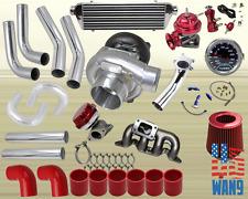 01-05 Civic 1.7L Ex Dx Lx T3/T4 Turbocharger Turbo Kit Red+Manifold+Bov+Wg+Gauge