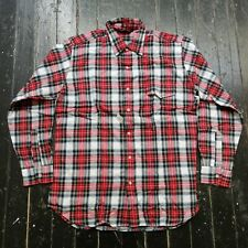 #2 Vintage Men's WOOLRICH Red & Green Plaid Button Up Shirt Size (L) NEW w/ TAG
