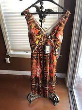 NEW PRADA DRESS COTTON,MULTI COLOR, PLEATED SKIRT, V NECK TOP ,SIZE 42  $3500