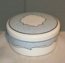 Wedgwood Venice Round Bone China Covered Trinket Ring Box Dish
