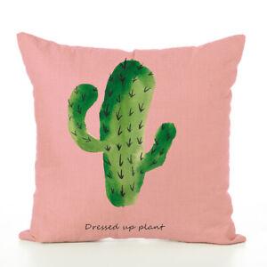 Art Green Cactus Cushion Cover Tropical Plants Sofa Pillow Cover Home Decorative