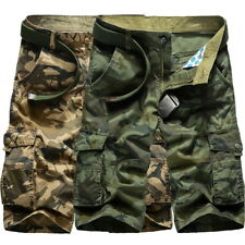 Camouflage Mens Casual Shorts Multi-Pocket Summer Beach Loose Pants Plus Size