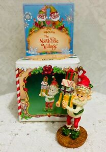 Enesco North Pole Village BUSTER Elf With Presents 1986 Sandra Zimnicki With Box