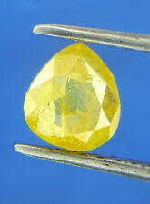 Very Rare 0.66TCW Yellow Pear shape Rose cut African Real Natural Loose Diamond