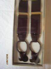 Boxed New Burgundy Made in Germany Suspenders Braces