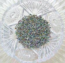 German Glass Vitrail MICROBEADS Glitter Iridescent Micro Beads 3mm 1 oz No Hole