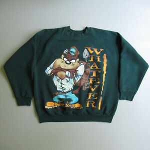 Vtg 90s Taz Tasmanian Devil Hiking Looney Tunes Sweatshirt Vintage Shirt