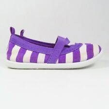 Circo Purple and White Striped Shoes in Size 5/6 (Toddler)