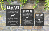 Humorous Beware of the Dog Slate Funny Gate House Sign 3 Sizes  ALL BREEDS  M-Y