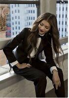Zara Black Smart Tuxedo Jacket Blazer Coat Size S BNWT