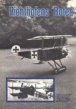 Bauplan ferngesteuerter Fokker Dr I Dreidecker von Richthofen - Original v. 1967