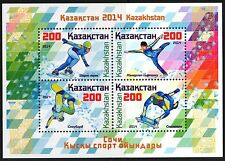 Kazakhstan Winter Olympics Games Sochi 2014 Skeleton Snowboard Sheet of 4 MNH**