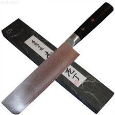 Japanisches Kochmesser Nakiri Hack Küchenmesser 33 Lagen Damast Pakkaholz Griff