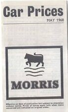Morris UK Price List 1968 Mini Minor 1100 1300 Oxford Vanden Plas 1300 1800