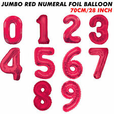 28'' 70cm Red Number Foil Balloon Birthday Wedding Party Decoration Gaint
