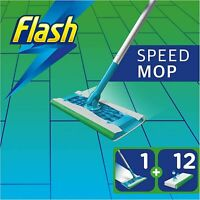 Flash Speedmop Starter Kit All-in-One with 12 wet Cloth Refills - Hygienic Mop