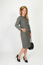 60s Vintage Dogstooth Christian Dior wiggle dress houndstooth shift dress