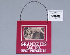 Grandkids are the Best Presents Hanging Picture Frame Magnet NEW Christmas Gift