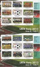 Sierra Leone 2012 MNH UEFA Campionati europei di calcio sheetlets euro