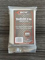 BCW Tobacco Card Sleeves Sports Trading Lot of 2 - 100 Count Packs Total 200