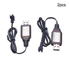 2Pcs 4.8V 250mA USB Charging Charger Cable for Ni-Cd Ni-MH AA Battery Pack Plug