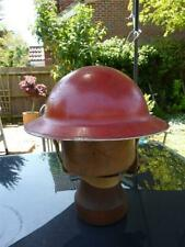WWII / Post War Tommy  / Fireman's Helmet, Red Paint, Possibly Dutch, Size 56
