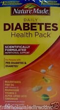 1 x 60Pk Nature Made Diabetes Health Pack Multivitamin Fish Oil with Vitamin D3