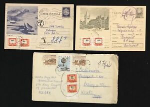 HUNGARY 6 FOREIGN COVERS WITH HUNGARIAN POSTAGE DUE STAMPS F/VF @4