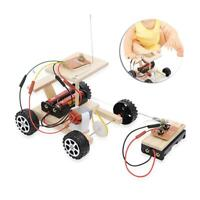 Kids DIY Wireless Remote Control Model Kit Wood Toy Set RC Car Assembly Toy Gift